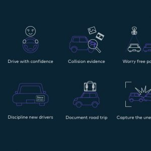 Cover Image VAVA Car Dash Cam Camera Infographic Kickstarter