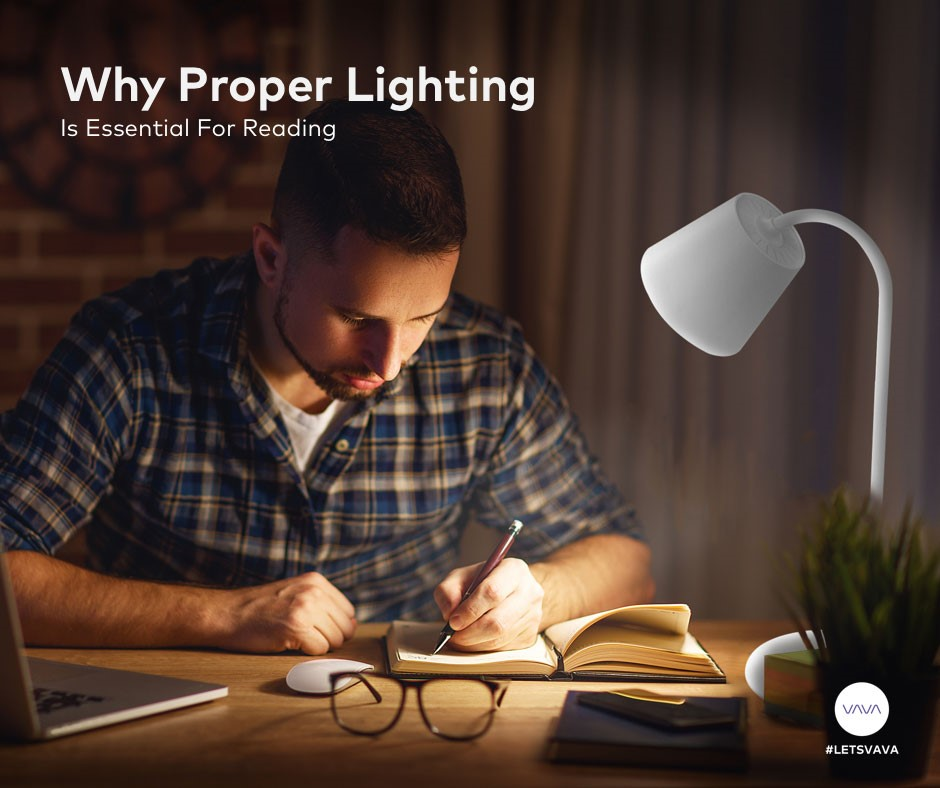 Why Proper Lighting is Essential For Reading 940 x 788 Lamp LED Light Book Studying Eyes