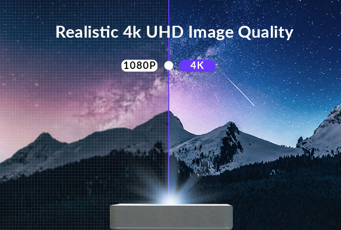 full 4K resolution with HDR 10